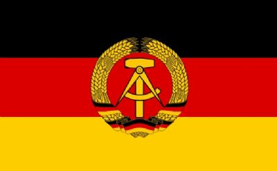 EAST GERMANY - 5 X 3 FLAG